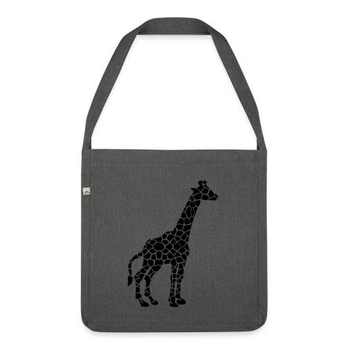 Giraffe (black) - Olkalaukku kierrätysmateriaalista