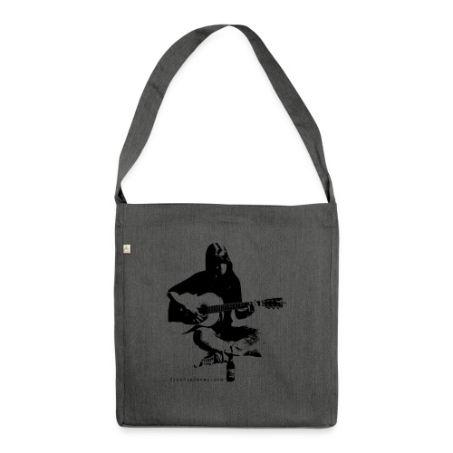 Cynthia Janes guitar BLACK - Shoulder Bag made from recycled material