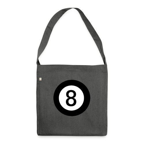 Black 8 - Shoulder Bag made from recycled material