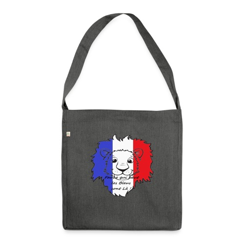 Lion supporter France - Sac bandoulière 100 % recyclé