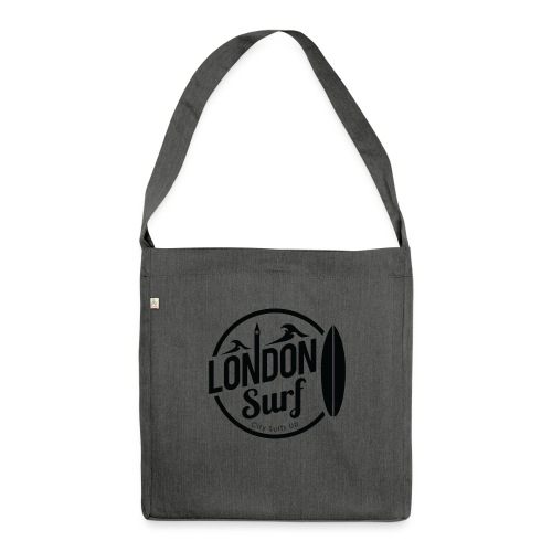 London Surf - Black - Shoulder Bag made from recycled material