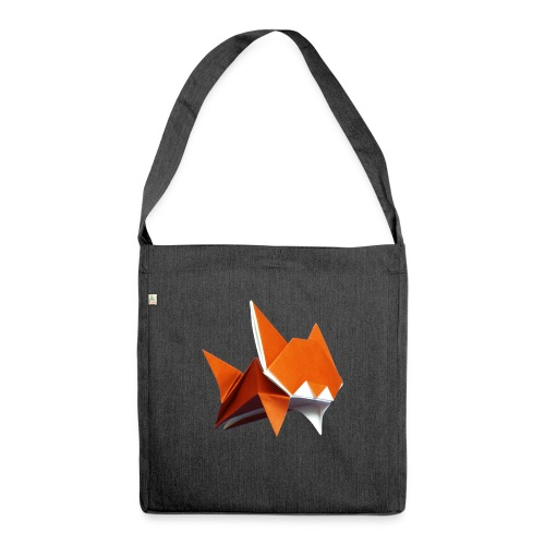 Jumping Cat Origami - Cat - Gato - Katze - Gatto - Shoulder Bag made from recycled material