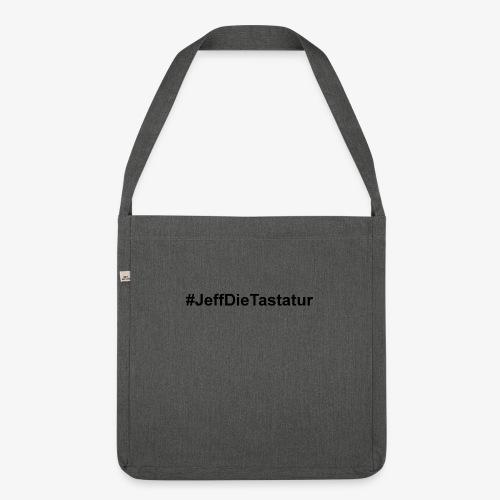 hashtag jeffdietastatur schwarz - Schultertasche aus Recycling-Material