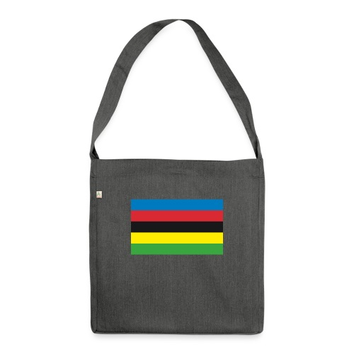 Cycling_World_Champion_Rainbow_Stripes-png - Schoudertas van gerecycled materiaal