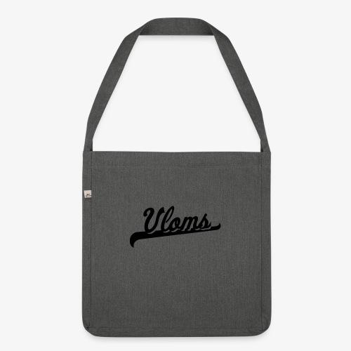 Zwart logo Vloms - Schoudertas van gerecycled materiaal