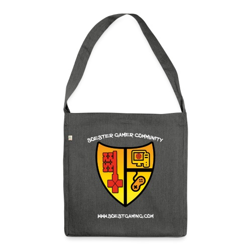 Soestgaming s White - Schultertasche aus Recycling-Material