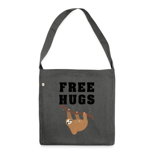 Funny Sloth Quotes - Schultertasche aus Recycling-Material