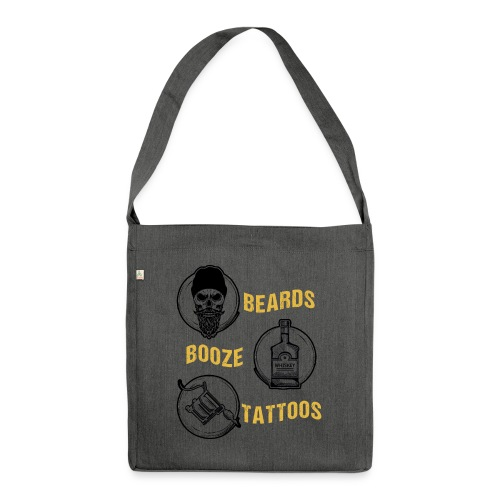 Beards Booze Tattoos Fathers Day Gift - Schultertasche aus Recycling-Material