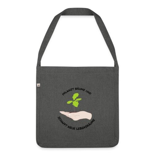 Baume Planzen - Schultertasche aus Recycling-Material