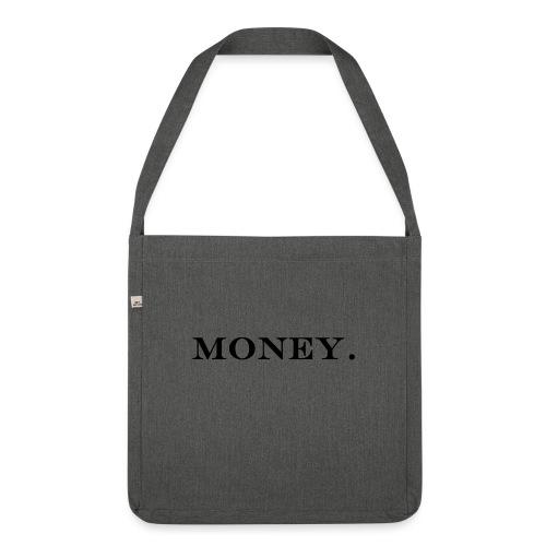 Money Geld - Schultertasche aus Recycling-Material