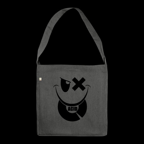 smiley acid techno vinyl - Shoulder Bag made from recycled material