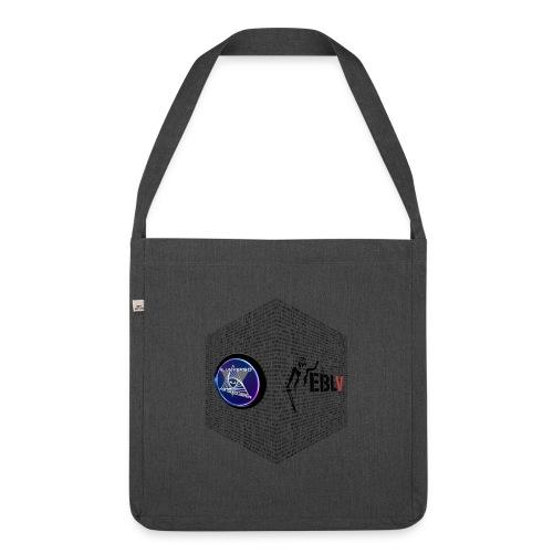 disen o dos canales cubo binario logos delante - Shoulder Bag made from recycled material