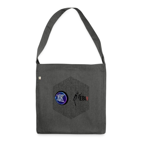 disen o dos canales cubo binario logos delante - Shoulder Bag made from recycled material