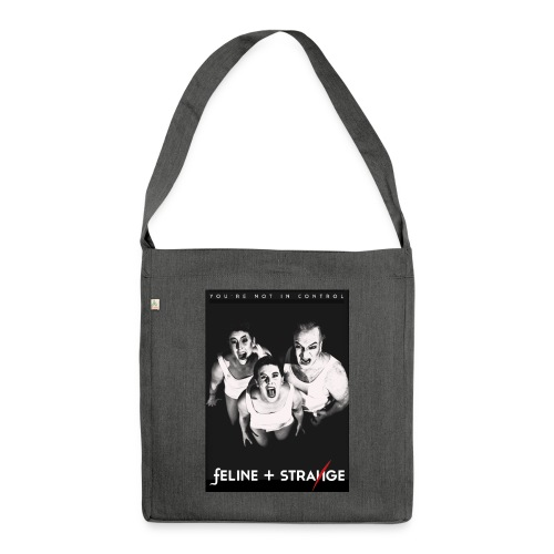 Feline and Strange - Scream - Schultertasche aus Recycling-Material