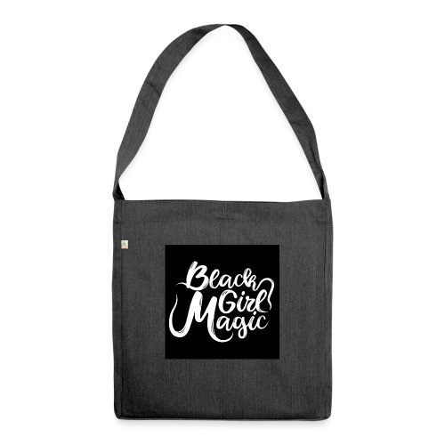 Black Girl Magic 1 White Text - Shoulder Bag made from recycled material