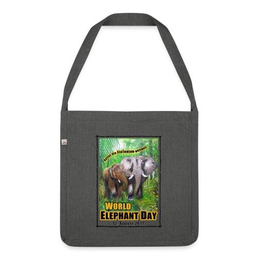 Welt-Elefanten-Tag 12. August 2019 - Schultertasche aus Recycling-Material