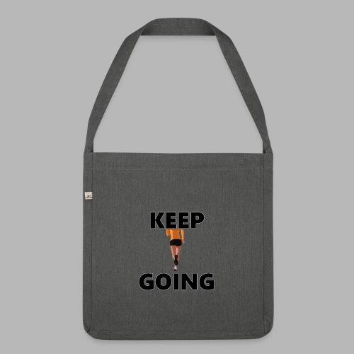 Keep going - Schultertasche aus Recycling-Material