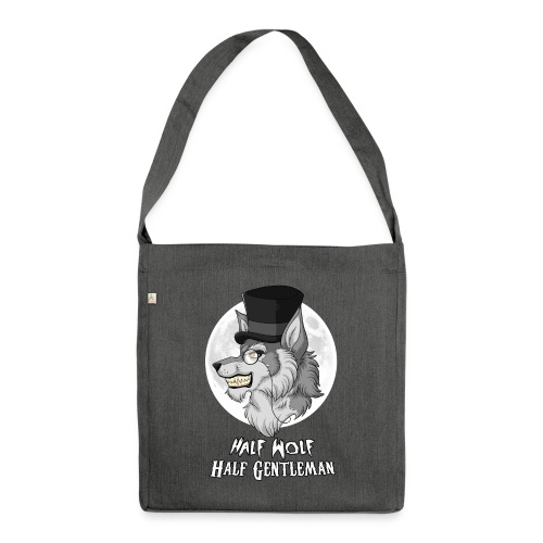 Half Wolf Half Gentleman - Shoulder Bag made from recycled material