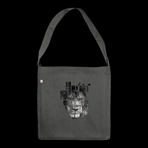 Pixel Lion Tattoo Inspire - Shoulder Bag made from recycled material