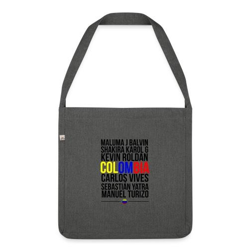 Reggaeton Shirt Kolumbien - Schultertasche aus Recycling-Material