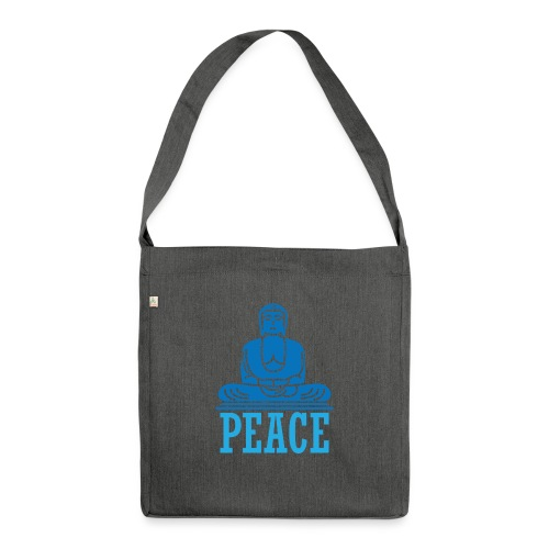 Buddha Meditating. - Shoulder Bag made from recycled material