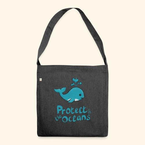 Protèges les océans - Sac bandoulière 100 % recyclé