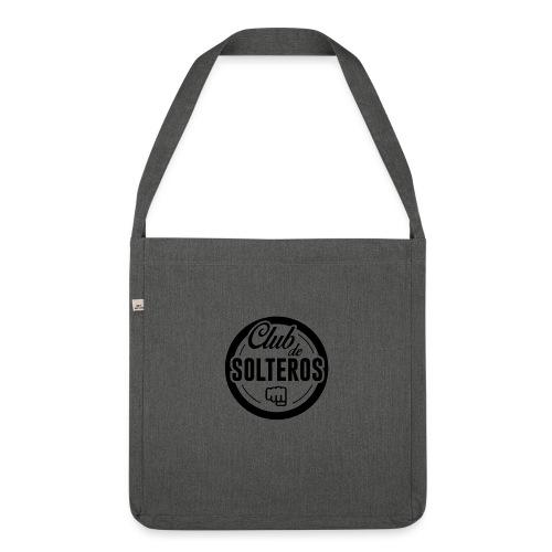 Club de Solteros (logo negro) - Bandolera de material reciclado