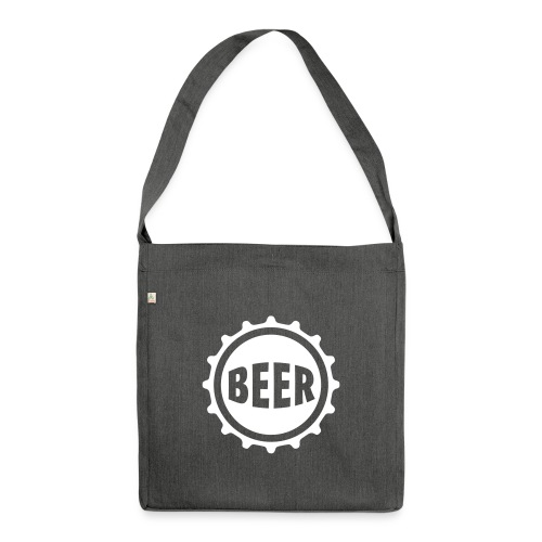 Bier Beer Bierdeckel Flaschenbier Kronkorken Durst - Shoulder Bag made from recycled material