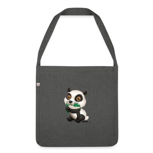 Panda - Schultertasche aus Recycling-Material