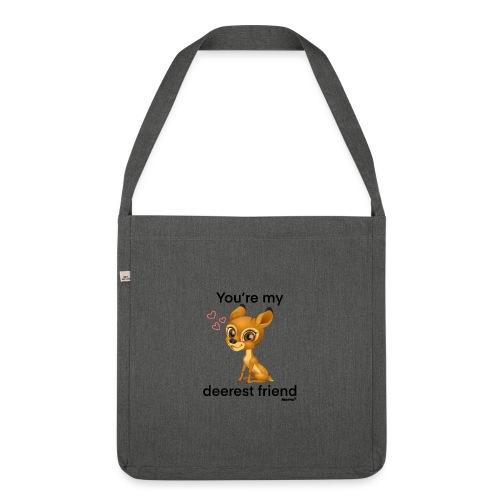 Deerest przyjaciel przez Diamondlight - Torba na ramię z materiału recyklingowego