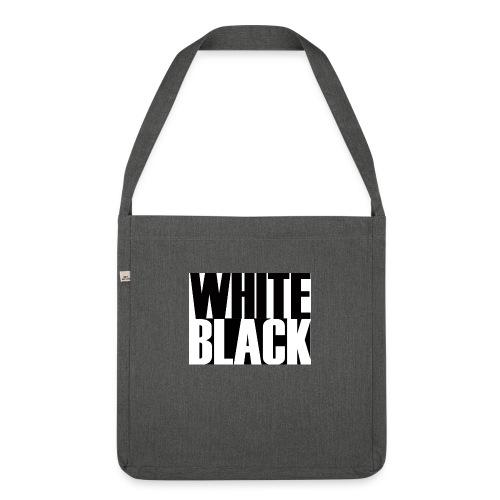 White, Black T-shirt - Schoudertas van gerecycled materiaal