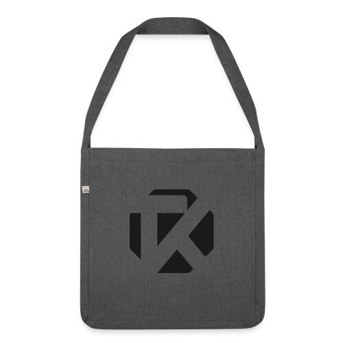 Logo TK Noir - Sac bandoulière 100 % recyclé
