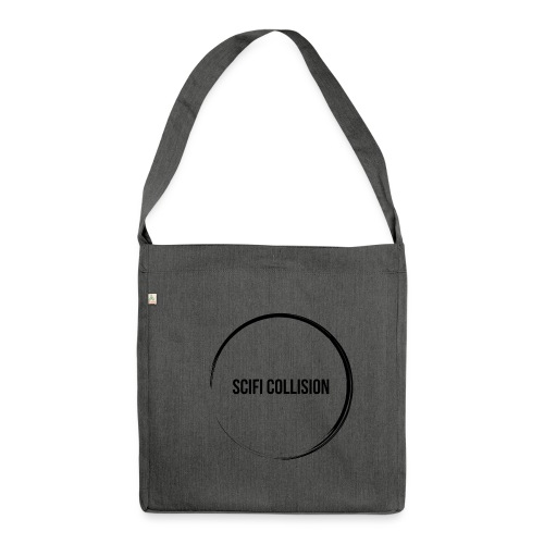 Black Logo - Shoulder Bag made from recycled material