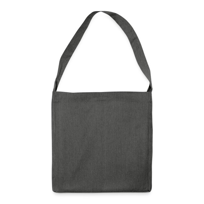 ana vo uns zwa is bleda ois i - Schultertasche aus Recycling-Material