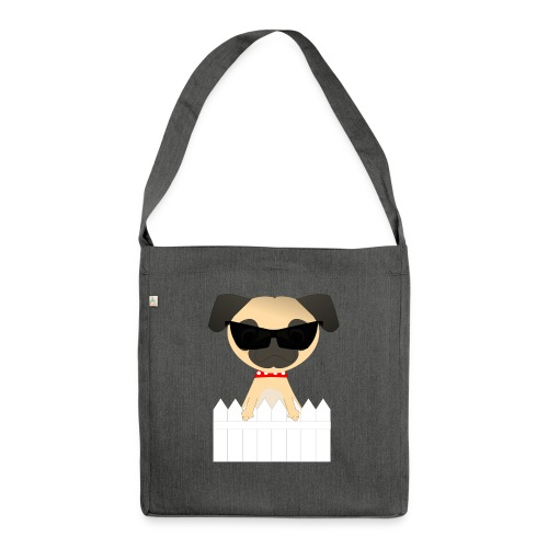 pug - Shoulder Bag made from recycled material