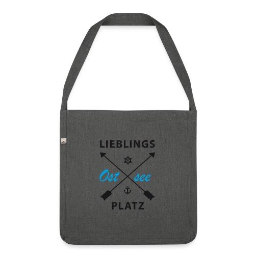 Lieblingsplatz Ostsee - Schultertasche aus Recycling-Material