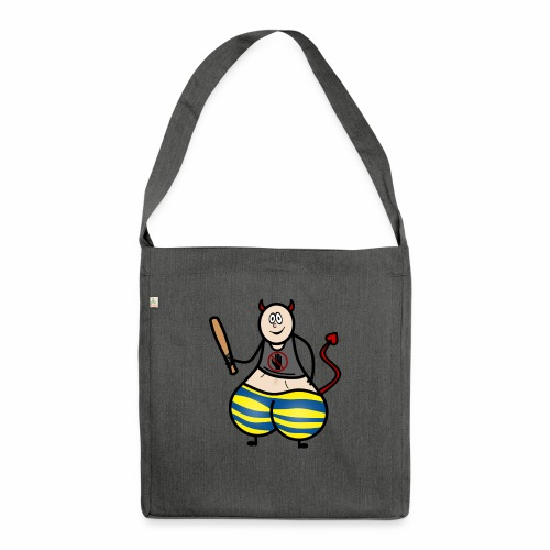 Devil No Touchies Charlie - Shoulder Bag made from recycled material