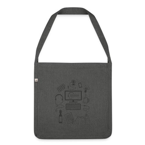 survivalKit-schw - Schultertasche aus Recycling-Material