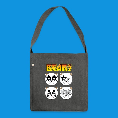 Kiss Bears square.png - Shoulder Bag made from recycled material