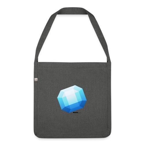 Saphir - Schultertasche aus Recycling-Material