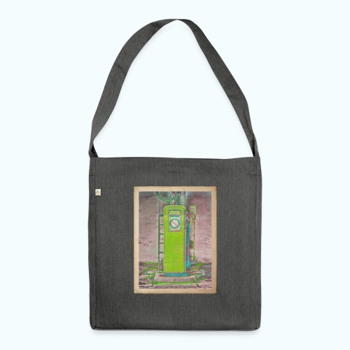 Vintage gas station - Shoulder Bag made from recycled material
