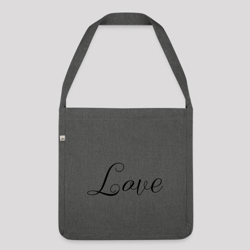 Love - Schiftzug - Schultertasche aus Recycling-Material
