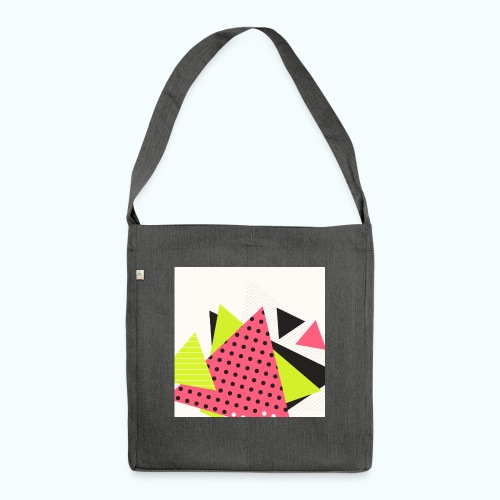 Neon geometry shapes - Shoulder Bag made from recycled material