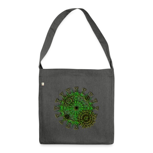 Virus 150220 ds. A - Shoulder Bag made from recycled material