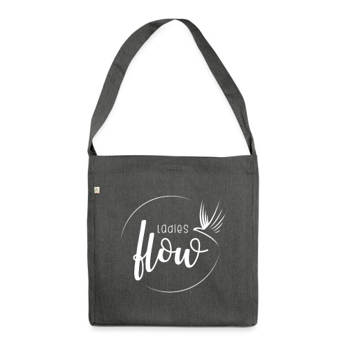 Ladies Flow LO Logo White - Schultertasche aus Recycling-Material