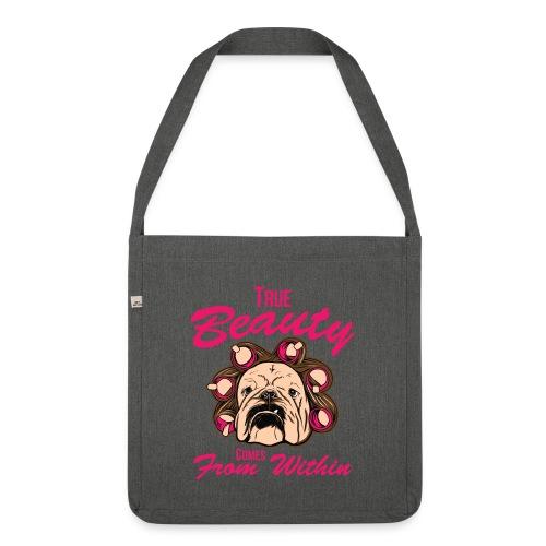 Nur für echte Bulldoggen-Liebhaber! - Schultertasche aus Recycling-Material