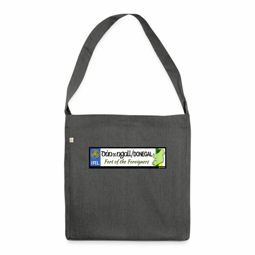 DONEGAL, IRELAND: licence plate tag style decal - Shoulder Bag made from recycled material