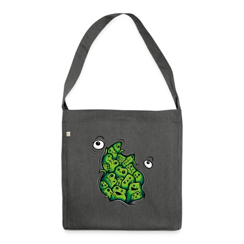 Getting Outside (green version) - Shoulder Bag made from recycled material