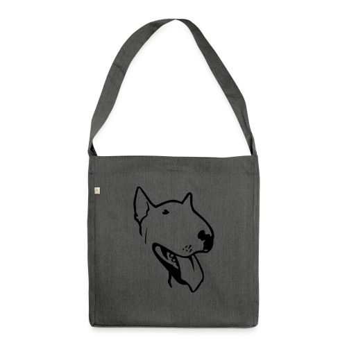 bull terrier2 - Shoulder Bag made from recycled material