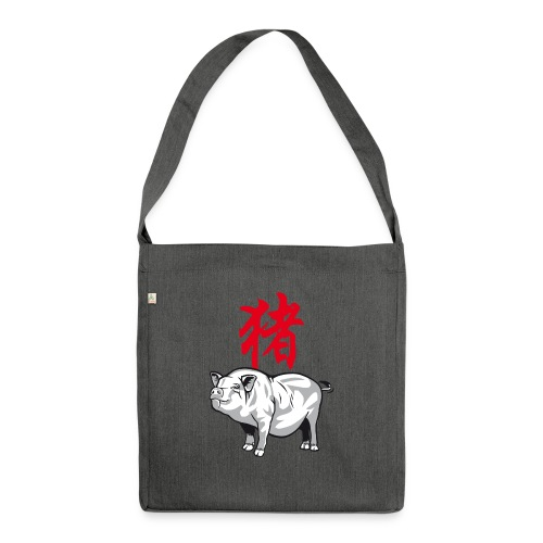 THE YEAR OF THE PIG (Chi - Shoulder Bag made from recycled material